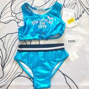 NWT FLAPDOODLES Bikini Mermaid on Duty Shiny Blue